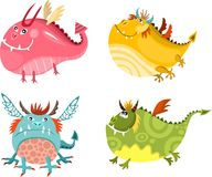 Dragon set Royalty Free Stock Image