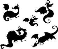 Dragon set Stock Images