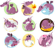 Dragon set Royalty Free Stock Photos