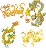 Dragon set fourteen Royalty Free Stock Images