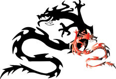 Dragon with shade.Vector illustration Stock Photos