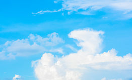 dragon shape clouds and blue sky Stock Photo
