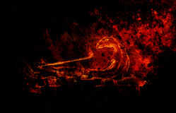 Free Dragon Shape Incense Sticks Holder On Abstract Background. Stock Photo - 96841640