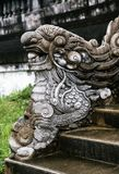 Dragon-shaped handrail in Hue Imperial Palace. Vietnam stock images