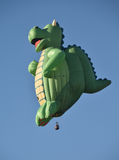 Dragon shaped hot air balloon Stock Image