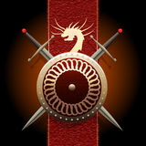 The Dragon shield Royalty Free Stock Images