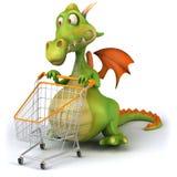 Dragon shopping Royalty Free Stock Image