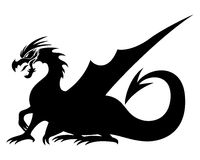 Dragon sign. Stock Images
