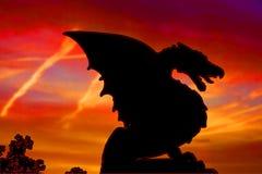 Dragon Silhouette stock abbildung