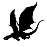 Dragon silhouette Stock Images