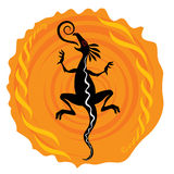 Dragon silhouette illustration Royalty Free Stock Photos