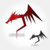 Dragon silhouette logo Stock Photo