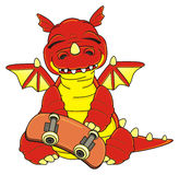 Dragon with skate Royalty Free Stock Photography