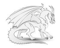 Dragon Sketch Fotografia Stock