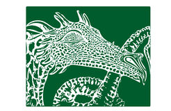 Dragon Sketch Fotografia de Stock
