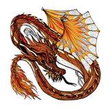 Dragon Sketch Color Stock Photos