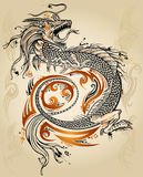 Dragon Sketch Tattoo Tribal Vector Stock Photos
