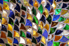 Dragon skin. Glass tiles from a Thai temple Stock Photography
