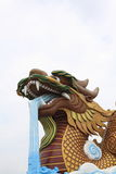 Dragon on the sky. Chinese dragon in a chinese temple Stock Photography