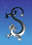Dragon in the sky Stock Image