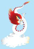Dragon in the sky with cloud  vector Stock Photography