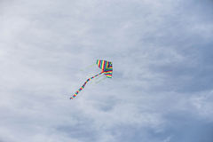 Wind kite. On the sky happy people in nature stock photography