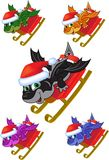 Dragon on a sled Stock Photo
