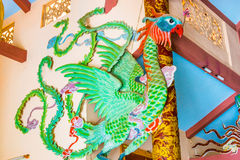 Dragon snake decoration at Buddhist temple Royalty Free Stock Images