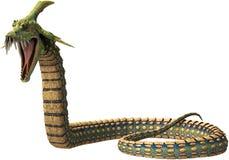 Evil Dragon Snake Monster Isolated Royalty Free Stock Image