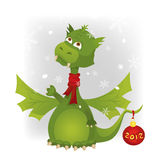 Dragon and snow Royalty Free Stock Images