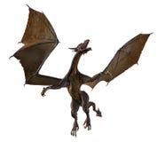 Dragon Soaring - 2. Digital render of a dragon in flight royalty free illustration