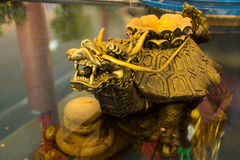 Dragon specialty. The animal model in the legend of temple Chainese style in Thailand Stock Photos