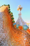 Dragon spine by Gaudi (Casa Batllo) Royalty Free Stock Photography