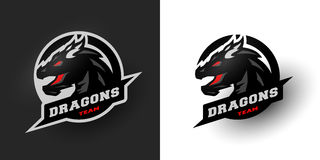 Dragon Sport logo. Two options. Royalty Free Stock Images