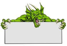 Dragon Sports Mascot Sign Foto de archivo libre de regalías