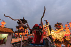 Dragon of the Spring and Autumn Pavilions, Lotus Pond, Kahosiung. Stock Photos