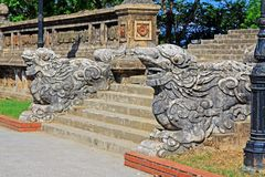 Dragon Stairs Bia Quoc Hoc, Hue Vietnam Stock Images