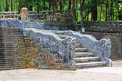 Dragon Stairs In Hue Imperial Tomb of Emperor Thieu Tri, Hue Vietnam UNESCO World Heritage Site. The imperial tomb of Thieu Tri is located very close to the Stock Photography