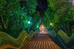 Dragon Stairs zu Wat Phra der doi suthap Tempel, Chiang Mai, Tha Stockfotografie