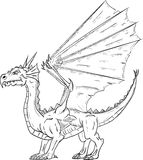 Dragon standing Royalty Free Stock Photos