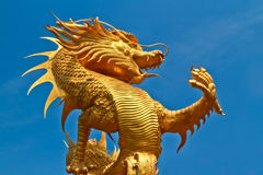 Dragon statue. In sanctuary. Thailand Royalty Free Stock Images