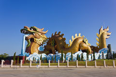 The dragon statue. Large dragon sculpture art of China royalty free stock images