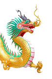 Dragon statue. Chinese dragon statue in temple Stock Image