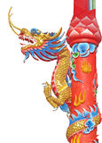 Dragon statue. In temple thailand Royalty Free Stock Photo