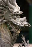 Dragon Statue. An old Chinese dragon statue with short depth of field stock photo