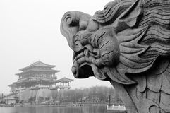 Dragon statue Stock Images