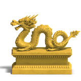 Dragon statue With ball Stock Photography