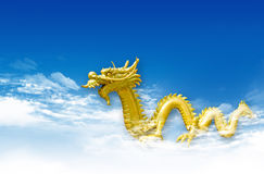 Dragon statue with the blue sk Royalty Free Stock Photo