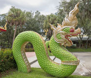Dragon Statue at a Buddhist Temple Stock Image