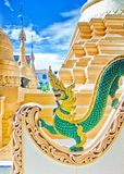 Dragon statue in budhist temple Royalty Free Stock Photography